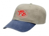 Khaki w/Navy Bill Cap - Product Image