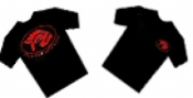 Piranha T-Shirt Black W/ Red Logo - Product Image