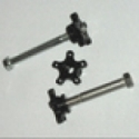 """Delrin Thumbwheels 8mm """"Pair"""" - Product Image"""