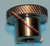 "Backplate Knob 3/8 Inch  ""Electro-Plated"" - Product Image"
