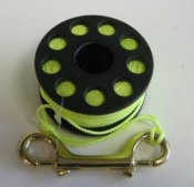 "75' Finger Spool w/ Black spool body ""High Viz Yellow Line"" - Product Image"