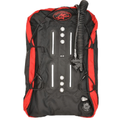 New Pricing! 32lb 360 Black / Red Wing w/Bungee Loops - Product Image