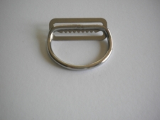 "45 Degree D-Ring w/2 Inch Slide ""Teeth""  - Product Image"