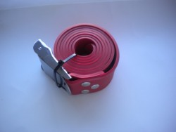 """55"""" (140cm) Rubber Weight Belt with Standard SS Buckle """"1 Only in Red !"""" - Product Image"""