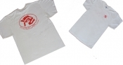 Piranha T-Shirt White w/ Red Logo - Product Image