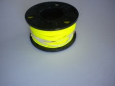 75ft Molded Large Hole Finger Spool w/High Viz Yellow Line  - Product Image