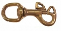 "3/4"" Round Swivel Butterfly Snap Brass - Product Image"