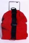 "Tec Bag ""Vertical style"" color RED - Product Image"