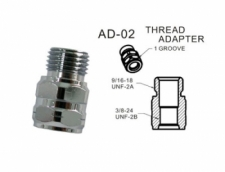 Adapter 3/8-24 Female to 9/16-18 male - Product Image