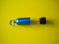 "Aluminum Tank w/pick & Split Ring  ""BLUE"" - Product Image"