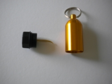 "Aluminum Tank w/pick & Split Ring  ""GOLD"" - Product Image"