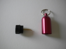 "Aluminum Tank w/pick & Split Ring  ""RED"" - Product Image"