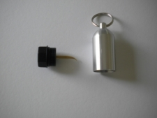 "Aluminum Tank w/pick & Split Ring  ""SILVER"" - Product Image"