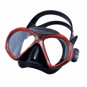 "Aspen Masks ""Black/Red Frame / Black Skirt Color"" - Product Image"