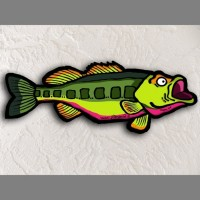 Bass Fish Wall Art - Product Image