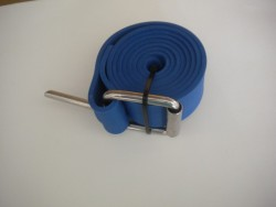 "55"" (140cm) Rubber Weight Belt with Marseillaise SS Buckle ""1 Only in Blue!"" - Product Image"