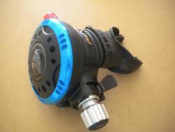 "Piranha Explorer Adjustable ""WMD"" Extreme Diving 2nd Stage  ""Blue Ring / Black Face-Plate""  - Product Image"