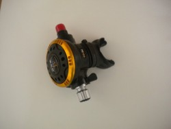 """Piranha Explorer """"WMD"""" Extreme Diving 2nd Stage  """"Gold Ring-Black-Face Plate"""" """" 1 only!"""" - Product Image"""