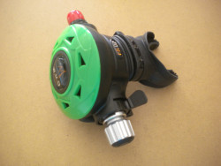 """Piranha Explorer Adjustable """"WMD"""" Extreme Diving 2nd Stage  """"Nitrox Green Face-Plate""""  - Product Image"""
