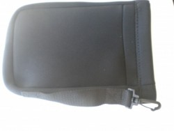 "Neoprene Mask Bag / Storage Pocket! ""All BLACK"" - Product Image"
