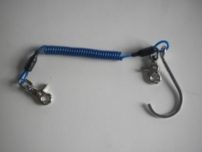 Bungee BLUE Laynard w/ Trigger Nickle Plated Snaps & Single Hook  - Product Image