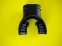 "Comfort Bite Silicone Mouth Piece Standard Size ""BLACK w/Grey accents"" - Product Image"