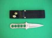 Compact Pointed all steel knife w/ Black shealth webbing - Product Image