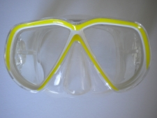 Coral Bay Neon Yellow Mask w/Clear Skirt - Product Image