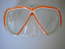 Coral Bay Orange Mask w/Clear Skirt - Product Image