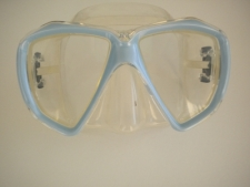 Delight Mask Soft Blue Frame w/Clear Silicone Skirt - Product Image