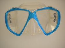 Delight Mask Sea Mist Blue Frame w/Clear Silicone Skirt - Product Image