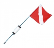Dive Flag w/ Cylinder Type Float - Product Image