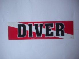 Diver on Flag Decal - Product Image