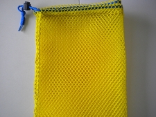 Drawstring All Mesh Bag Medium     YELLOW - Product Image
