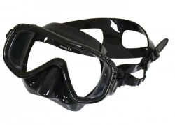 "Special! 5 left!!!! EDGE Manta Single Vision Mask  ""Black / Black Skirt  - Product Image"