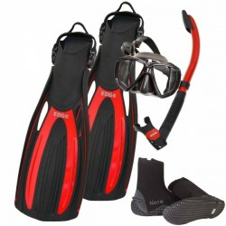 Edge Flex Scuba Mask Snorkel Fins Package Plus! - Product Image