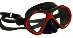 "Special! Edge View 2 Masks ""Red Trim w/ Black Skirt"" Hard Plastic Mask Box Included! - Product Image"
