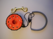 Enclosed Hand Reel w/Knob    Safety Orange Spool / Black Housing - Product Image