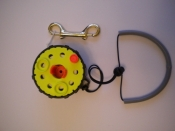 Enclosed Hand Reel w/Knob    Yellow Spool / Black Housing - Product Image