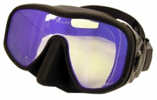 "Explorer Frameless Mask   ""Black Frame w/Black Skirt"" Red Tru Color Lens - Product Image"