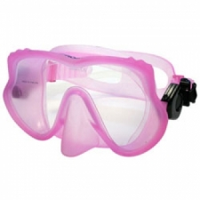 "Explorer II Frameless Mask   "" Pink Frame w/ Clear Skirt"" - Product Image"