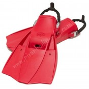 HOG Red Tec Fins w/Spring Straps 2 XL Size  - Product Image