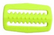 "Heavy Duty 2"" Inch Plastic Slider w/ teeth   Neon Yellow - Product Image"