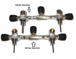 "Hog 200 Bar Manifold "" Removable valve face inserts"" - Product Image"