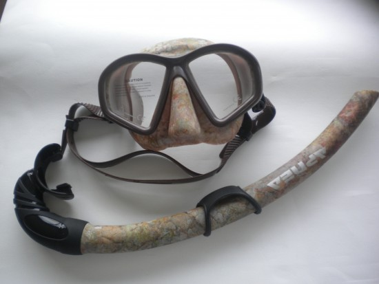 Hydro-Dip Mask and Matching Snorkel Combo