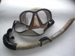 "Hydro-Dip Mask and Matching Snorkel Combo ""Camo Design"" - Product Image"