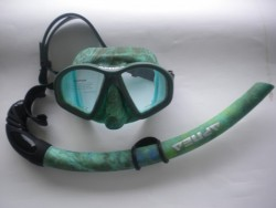 "Hydro-Dip Mask and Matching Snorkel Combo ""Green Design"" - Product Image"