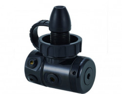 "Piranha Dive Black Coated First Stage in Din w/ Swiveling Head ""Non-Sealed Model #804""....1 Left! - Product Image"