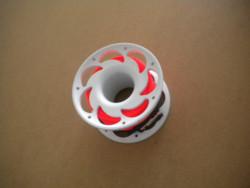 100 Foot Compact Flat Line Finger Spool w/ High Viz ORANGE line! - Product Image