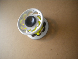 50 Foot Compact Flat Line Finger Spool w/ Internal Spinner / High Viz YELLOW line - Product Image